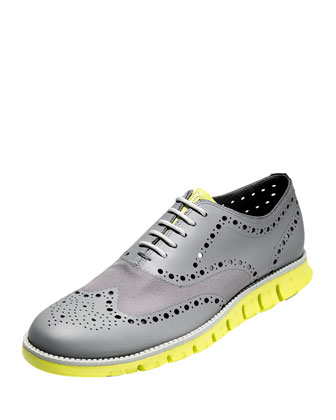 Zerogrand Wing-Tip Oxford, Pewter
