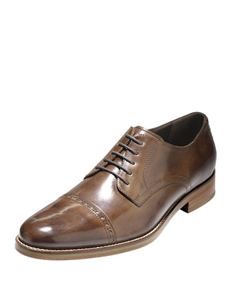 Preston Cap-Toe Oxford, Dark Brown