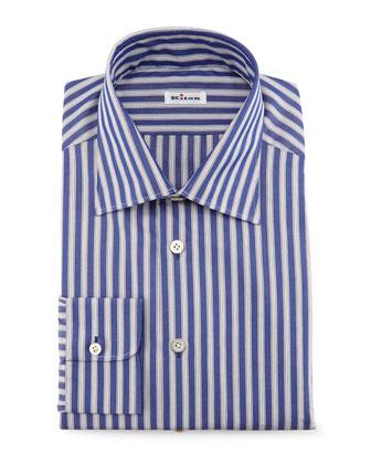 Micro-Houndstooth Dress Shirt, Blue