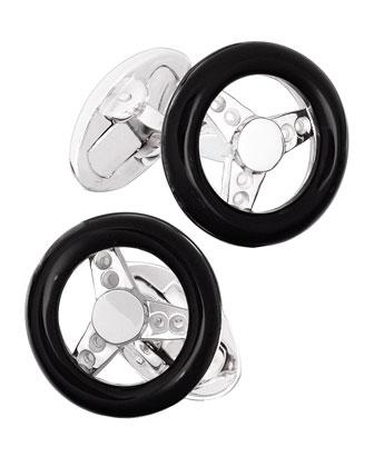 Black Onyx Steering Wheel Cuff Links