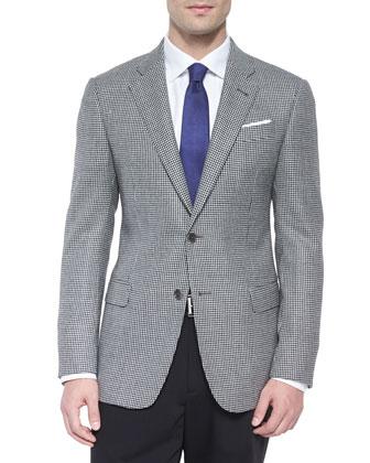 G-Line Houndstooth Sport Jacket, Black/White