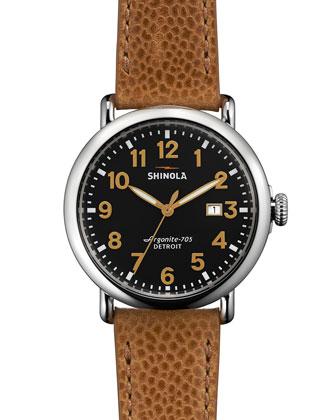 41mm Runwell Leather Watch, Tan
