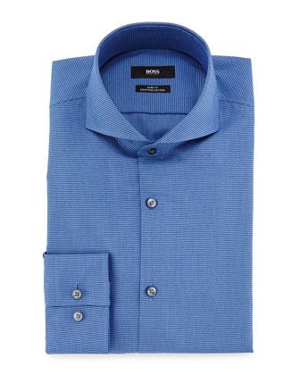 Dwayne Slim-Fit Micro-Textured Dress Shirt, Blue