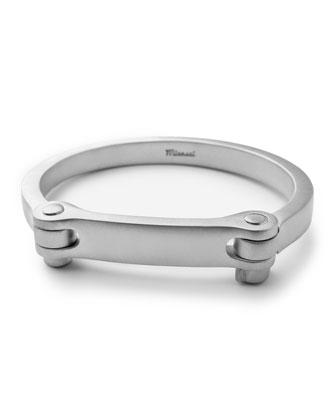 Men's Medium Bolt Cuff Bracelet, Silver