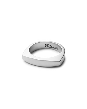 Round Top Silver Ring