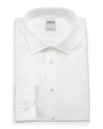 Modern Fit White-On-White Cord Dress Shirt