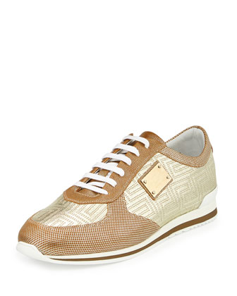 Men's Colorblock Casual Sneaker, Gold