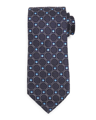 Octagon Box Tie, Navy