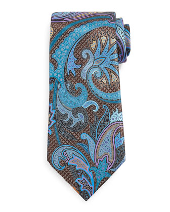 Quindici Paisley Tie, Brown