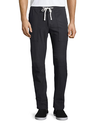Carbon Stretch-Knit Cargo Pants, Charcoal