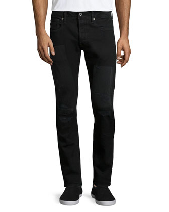 3301 Slim Restored Denim Jeans, Black