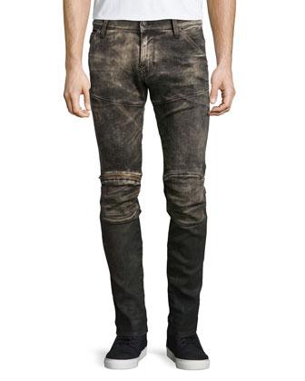 5620 3D Medium-Aged Slim Jeans, Indigo