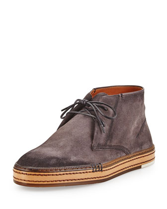 Cortina Suede Ankle Boot, Gray