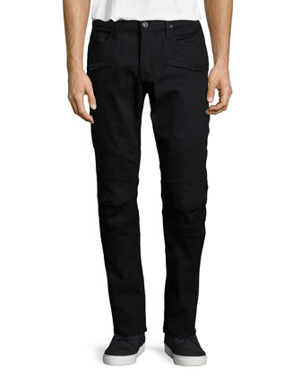 Blinder Biker Salton Denim Jeans, Black
