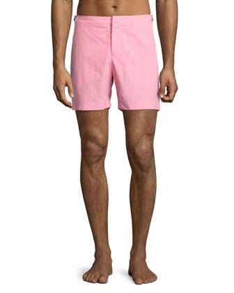 Bulldog Mid-Length Swim Trunks, Pink