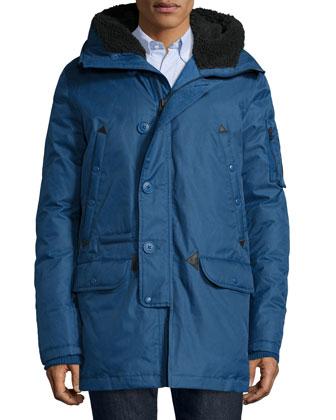 Tech N3-B Snorkel Hooded Coat, Blue