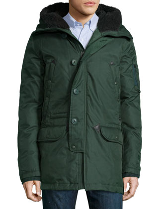 Tech N3-B Snorkel Hooded Coat, Green