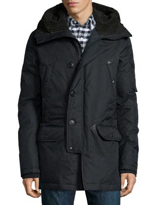 Tech N3-B Snorkel Hooded Coat, Black