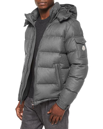Montgenevre Quilted Down Jacket, Gray