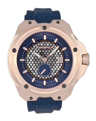 48mm M15 Special Edition Watch, Blue/Rose Gold