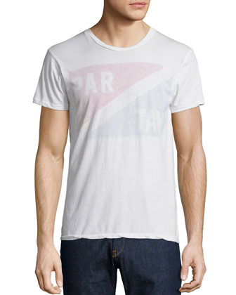 Par-Tay Short-Sleeve Cotton Tee, White