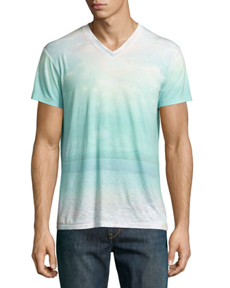 Bula Beach Faded Graphic Tee, Multi