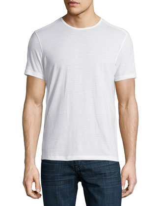 Short-Sleeve Crewneck Tee, White