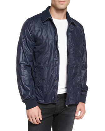 Nylon Quilted Jacket, Navy