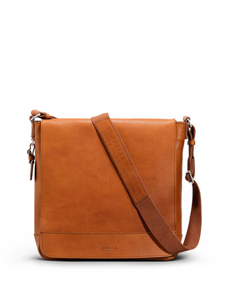 North/South Leather Messenger Bag