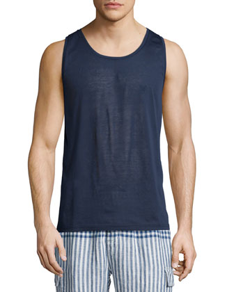 Round-Neck Tank Top, Navy