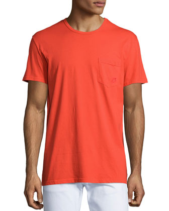 Solid Short-Sleeve Tee, Red