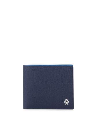 Bourdon 8CC Billfold Wallet, Blue