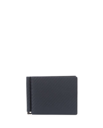 Chassis Money-Clip Billfold Wallet, Navy