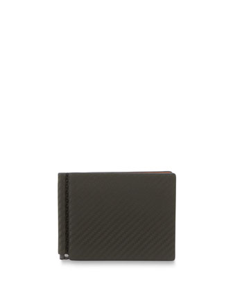 Chassis Money-Clip Billfold Wallet, Green