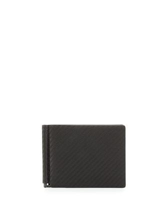 Chassis Money-Clip Billfold Wallet, Black