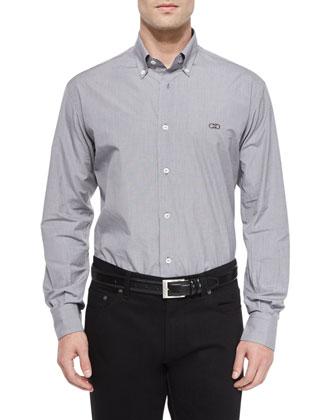 Reversible Check Flannel Jacket, Gancini-Detail Plaid Sport Shirt & ...