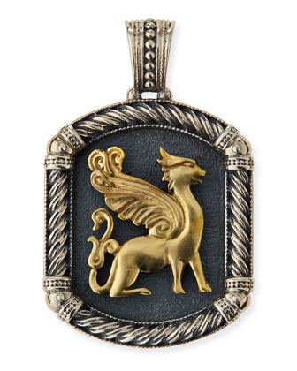 Phidias Men's Griffin Rectangular Pendant