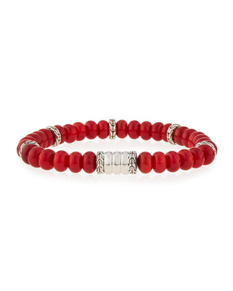 Men's Batu Bedeg Coral Beaded Bracelet