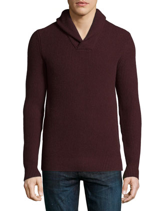 Shawl-Collar Cashmere-Blend Sweater & Cashmere-Blend Cargo Pants