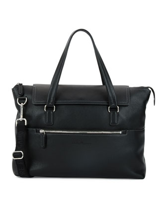 Baires Leather 24-Hour Bag, Black