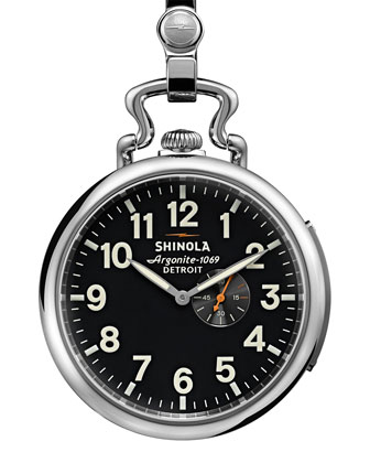 49mm Henry Ford Pocket Watch, Silver