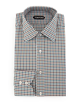 Quilted Down-Fill Shirt Jacket, Gingham Sport Shirt & Slim-Fit Saturated ...