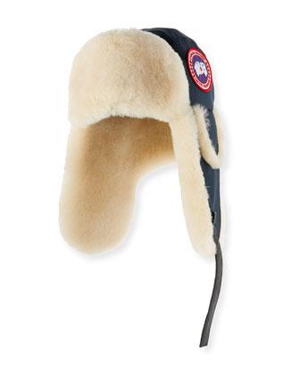 Shearling Fur Pilot Hat