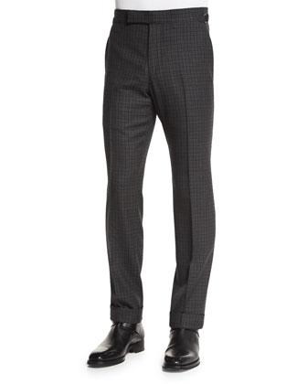 Textured Pique-Stitch Full-Zip Cardigan, Black