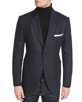 O'Connor Base Tweed Cardigan Jacket, Navy