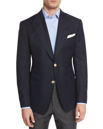 Spencer Base Two-Button Blazer, Navy