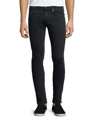 Ace Used Cash Slim-Fit Jeans, Dark Gray