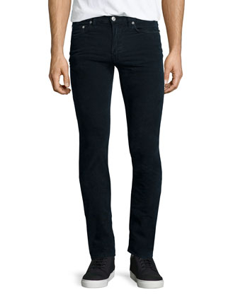 Ace Cord Skinny Denim Jeans, Navy