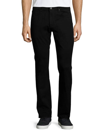 Five-Pocket Twill Jeans, Black