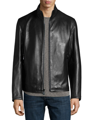 Dorset Leather Jacket, Black